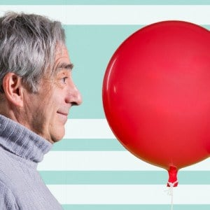 Robert Dorfman and his costar The Red Balloon.
