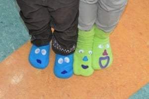 If you go to the show, you can wear sock puppets on your feet!