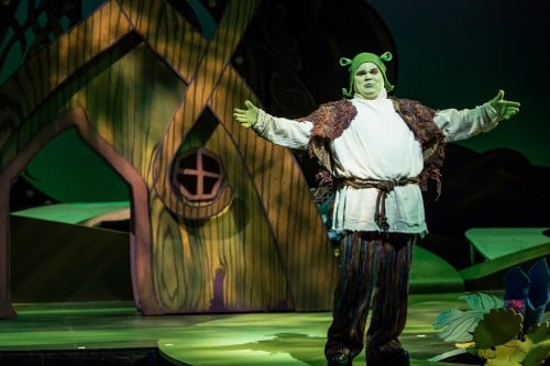 Photos by Dan Norman. Reed Sigmund as Shrek