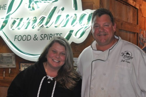 Melissa and Jeff Garlie, Chef and owners of The Landing at Lake Alexander