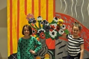 Mr. Happy and the girls get inside a Matisse inspired photo shoot.