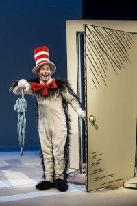 Dean Holt as The Cat in the Hat at CTC, photo by Dan Norman