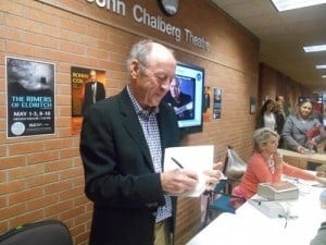 Billy Collins, book signing at CLC in Brainerd, MN Photo by Krista Rolfzen Soukup