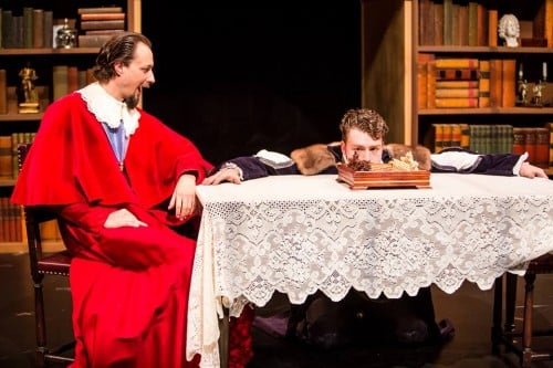 Tony Brown as Richelieu and Casey Hoekstra as Louis XII, The Three Musketeers, photo by Dan Norman