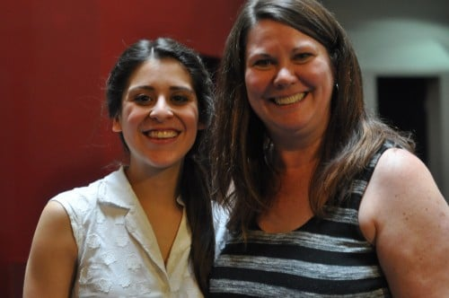 Andrea San Miguel (Antonia) and Mary Aalgaard, reviewer who loved her performance!