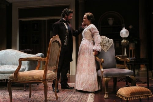 John Catron as Morris Townsend and Kate Guentzel as Catherine Sloper. PHOTO CREDIT: Michal Daniel