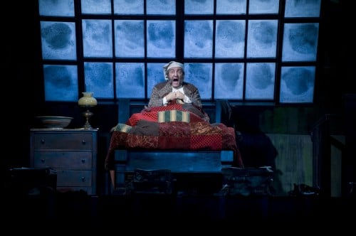 J.C. Cutler as Scrooge. Photo by Michael Brosilow.