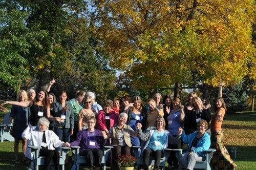 Fun group shot. Mount Carmel Fall Women's Retreat, 2014
