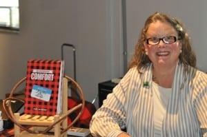 Jacqueline Pine Savage, aka Jodi Schwen, at her book launch in Brainerd, MN.
