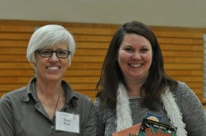 Margi Preus and Mary Aalgaard at the YAC in TRF.