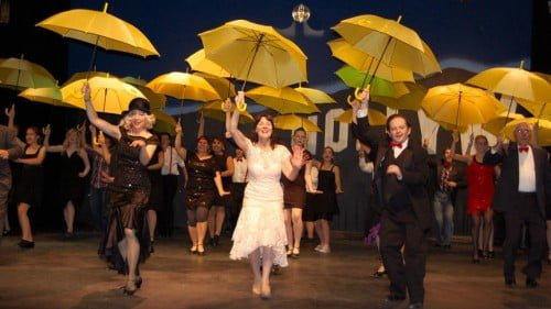 Cast of Singin' in the Rain, Community theatre production in Pequot Lakes, MN. Promotion photo on the Brainerd Dispatch.