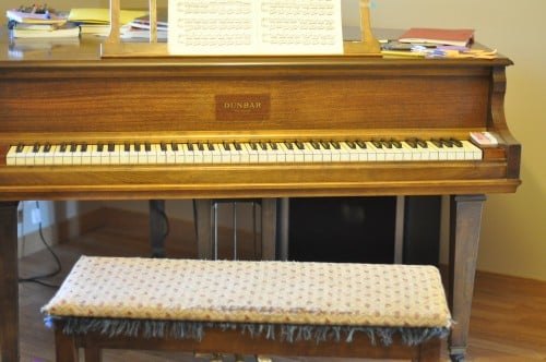 The piano bench that has heard many confessions, inspiring me to write the story of one who listened to them.