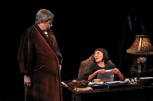Gertrude Stein and a Companion (Claudia Wilkens and Barbara Kingsley) at The Jungle Theater, photo by Michal Daniel
