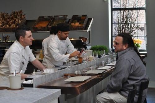 Chef Gavin Kaysen talking shop with The Biker Chef