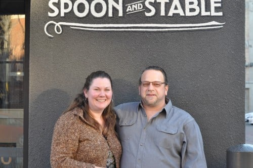 The Biker Chef and Mary at Spoon and Stable
