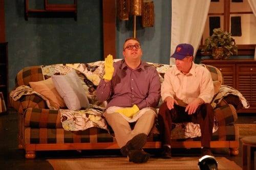 The Odd Couple at Stage North in Brainerd, MN Travis Chaput as Felix, and Brad Wagendorf as Oscar Madison