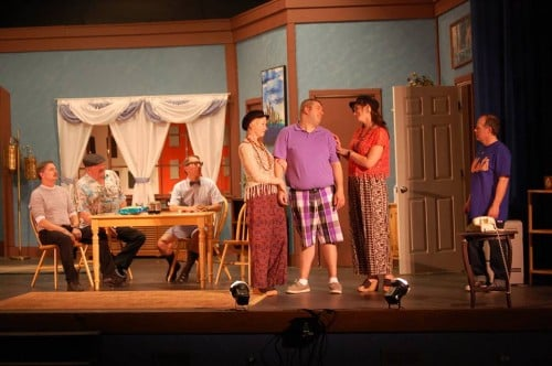 Cast of The Odd Couple, playing at Stage North in Brainerd, MN, May 14-16, 2015