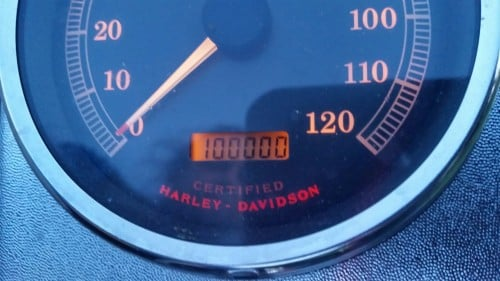 The Biker Chef's Harley Davidson Road King turns 100,000 miles!