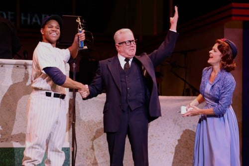 Thay Floyd as Joe Hardy, Gary Briggle as the Commissioner, and Kersten Rodau as Gloria Thorpe
