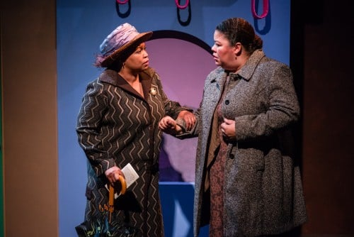 The ghost of Ida B. Wells (Aimee K. Bryant) telling Mary (Thomasina Petrus) that she can make a difference.