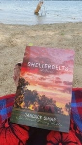 I started reading Shelterbelts while relaxing on the sands of Lake Carlos, not too far from its setting in the Fergus Falls area of Minnesota.