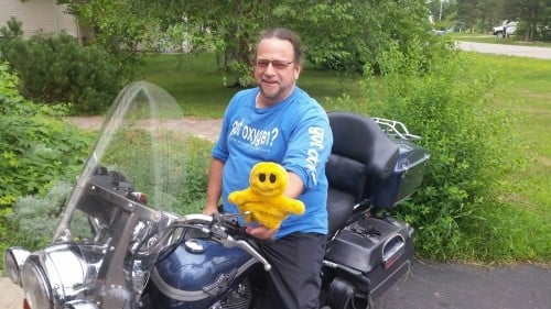 Mr. Happy is happy to be getting ready for the 2015 Ride to the Rally in Sturgis, SD! Ya Hoo!