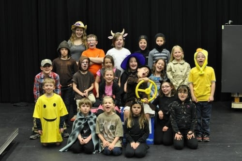 Theatre classes for elementary students at CLC, Spring 2015