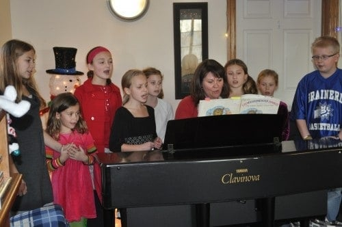 I brought some of my students to a memory unit at a local assisted living center one Christmas. They all played their holiday songs, and I played a few for a sing-along.