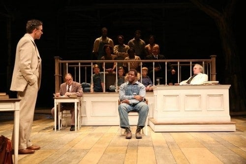 The cast of TO KILL A MOCKINGBIRD. Photo by Joan Marcus.