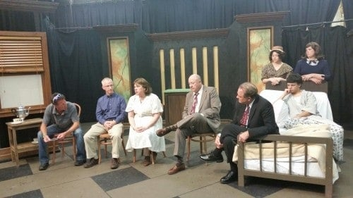 Post play discussion of Bill W. and Dr. Bob, playing at Central Lakes College Community Theatre.