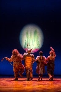 The four friends on their journey through Oz, at The Children's Theatre Company in Minneapolis. Photo by Dan Norman