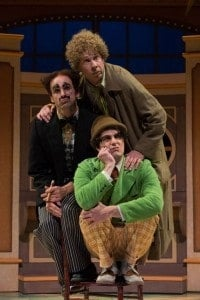 Harpo (Brent Hinkley), Mr. Hammer/Groucho (Mark Bedard) and Chico (John Tufts). Photo by Jenny Graham (How did they all balance on that chair!?!)