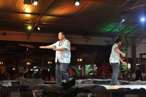 Kalamaku Luau dancers, their movements tell the story.