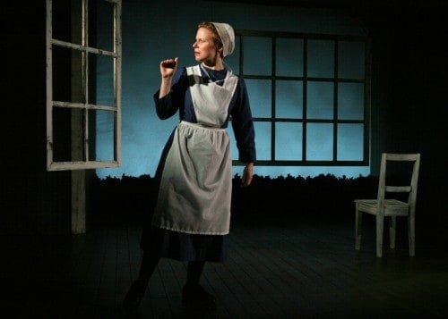 Jessica Dickey, playwright and solo performer in The Amish Project. Photo by Sandra Coudert