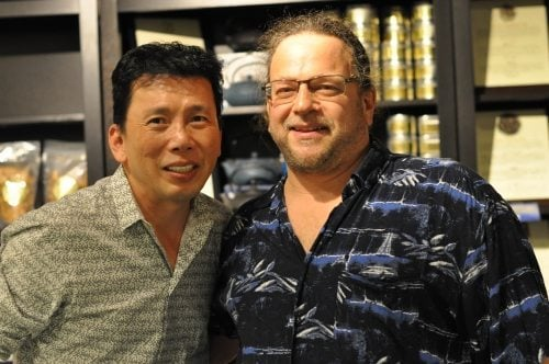 "Chef Chai and The Biker Chef. The food does ""Break the Mouth"" at Chef Chai's Restuaruant!"