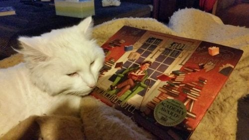 "Leo likes the book, too. He says, ""Cat's stories matter, too."""