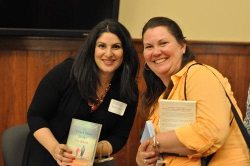 Nadia Hashimi and Mary Aalgaard, at the Brainerd library's Wine and Words event. Nadia signed my copy of The Pearl that Broke Its Shell.