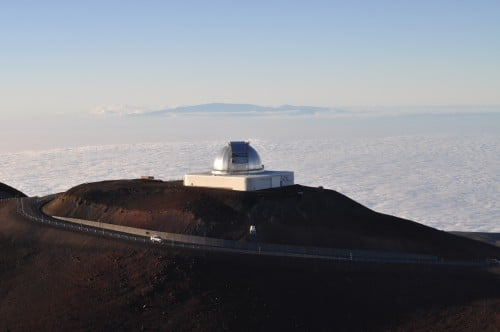 Observation towers on the Mauna Kea Summit