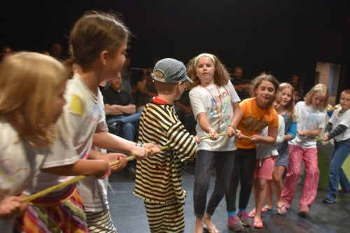 Life is also like a game of tug-o-war! Summer Play off the Page Theatre Workshop