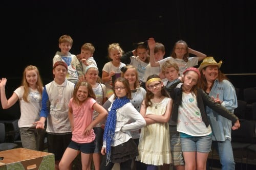 Play off the Page Summer Theatre Workshop, Middle School class. Where's Big Foot?