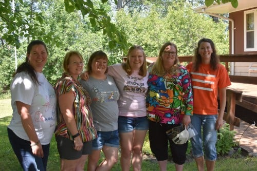Some of the Aalgaard women in our awesome shirts!