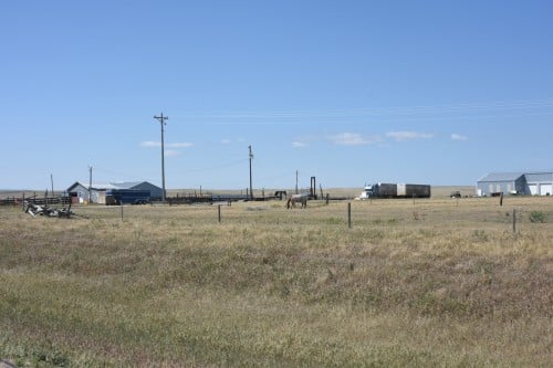 Acres and acres of ranch land in the Dakotas.