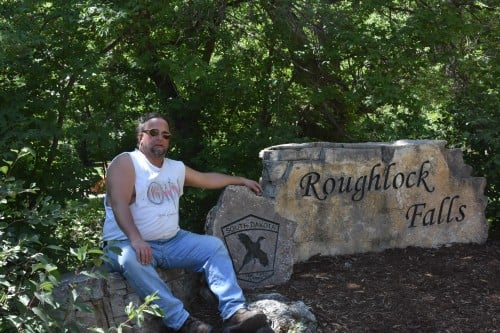 The Biker Chef at Roughlock Falls