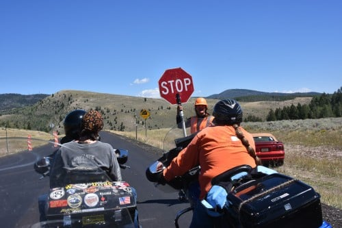 Road stops give you an opportunity to chat with the sing holders.