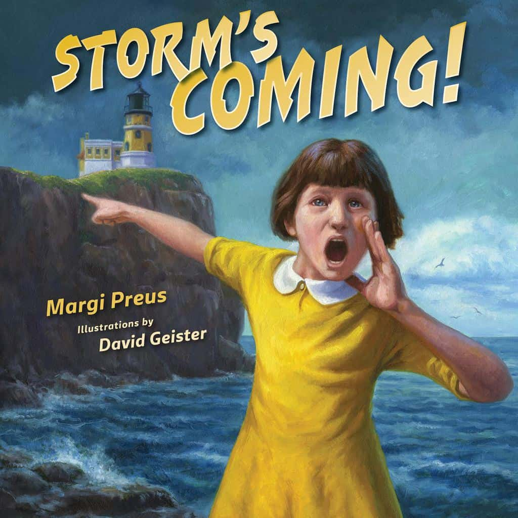 Review of Storm's Coming by Margi Preus, illustrated by David Geister