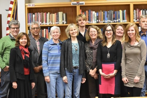 Vijay Seshadri and some of the faculty at Central Lakes College, Fall 2016