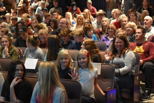 Overflow audience for Verse like Water reading by Pulitzer Prize Winning Poet Vijay Seshadri, Fall 2016, Central Lakes College.