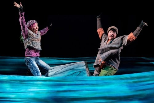 Sun Mee Chomet and Ricardo Vazquez in CTC's The Last Firefly. Photo by Dan Norman