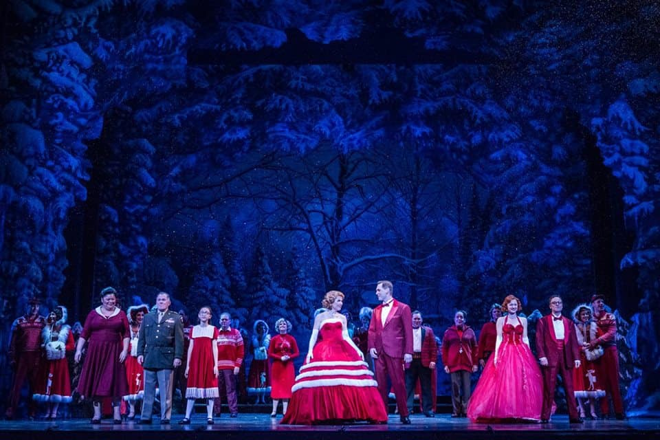 The cast of Irving Berlin's White Christmas at the Ordway Performing Arts Center in St. Paul, MN Photo by Rich Ryan Photography