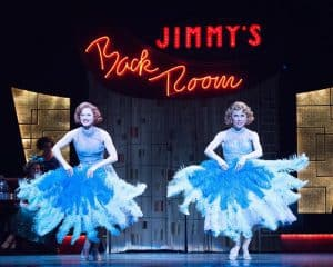 """Jenny Piersol as Judy Haynes and Ann Michels as Betty Haynes, performing """"Sisters"""" in the Ordway Performing Arts Center's production of Irving Berlin's White Christmas, Dec. 2016. Photo by Rich Ryan Photography"""